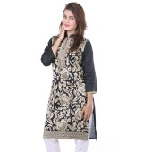 Cotton Ethinic Kurti for Women - Black